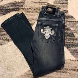 red rivet jeans size 1